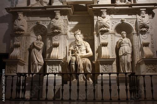 Zdjęcie XXL Mose 'of Michelangelo sculpture
