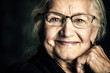 Leinwandbild Motiv friendly smiling granny