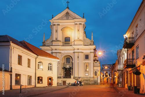 Fotografie, Obraz  Vilnius Lithuania. Ancient Baroque Catholic Church Of St. Teresa