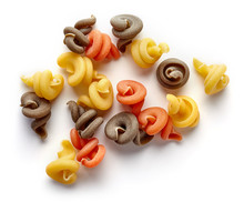 Three-colored Pasta Isolated O...