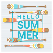Hello Summer Background With P...