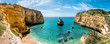 Leinwandbild Motiv Meeresbucht, Praia do Vale Covo, Küste an der Algarve, Atlantik, Portugal