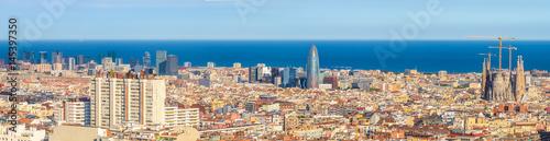 Foto op Canvas Barcelona Panoramic view, Barcelona
