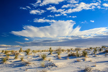 Sun Rise At White Sands National Monument
