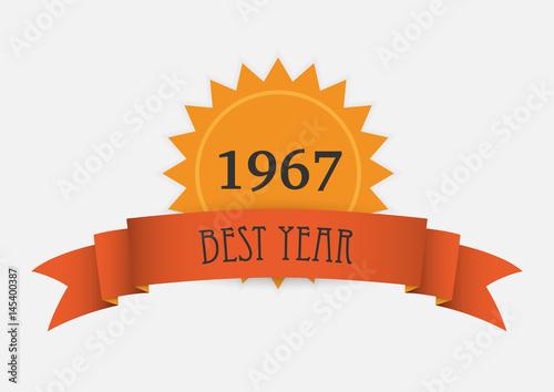 Fotografia  orange ribbon and number