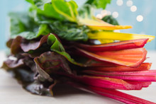Stack Of Rainbow Chard Fills Frame