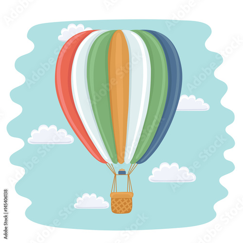 Fotografia Hot Air Balloon and Clouds