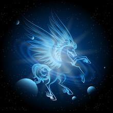 Luminous Pegasus In Space Vect...