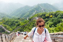 China Travel At Great Wall. To...