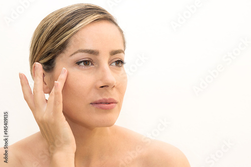 Woman with beautiful and natural skin