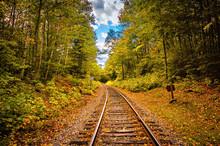 Autumn Along The Train Tracks