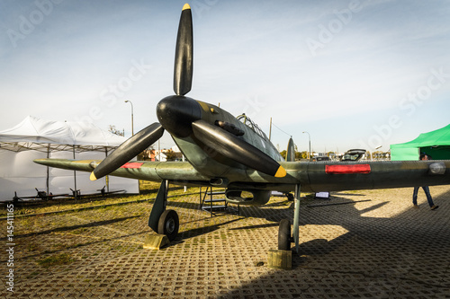Fotografie, Obraz  WARSAW, POLAND - OCTOBER 14: The Hawker Hurricane parked at Warsaw airport Okecie on 14th October 2016 in Warsaw, Poland