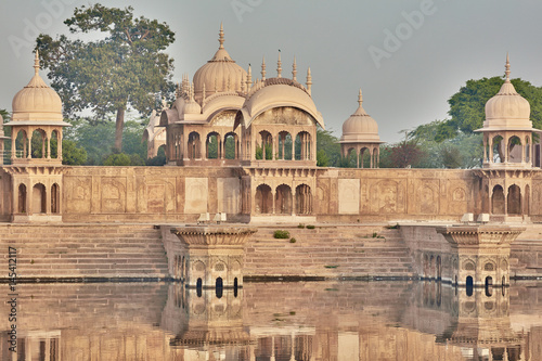 Stampa su Tela  Kusum sarovar ancient abandoned temple in India UP