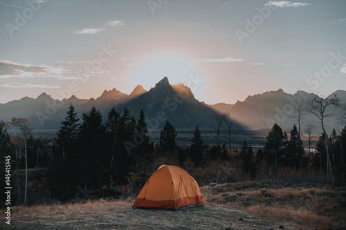 Poster Camping Teton Camping