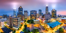 Aerial View Of Charlotte, NC S...