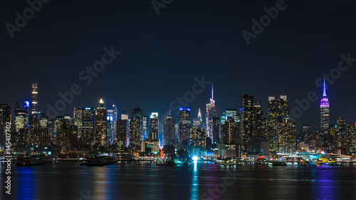 Canvas Prints New York ニュージャージ州より望む、アメリカ・ニューヨークの夜景