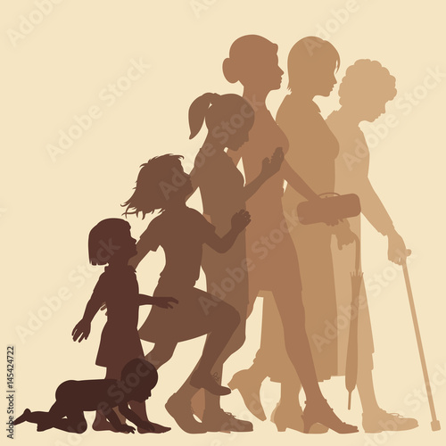 Stages of woman Canvas Print