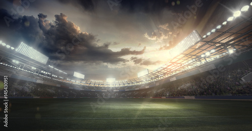 фотографія  Sports Background. Soccer Stadium. Sport Arena