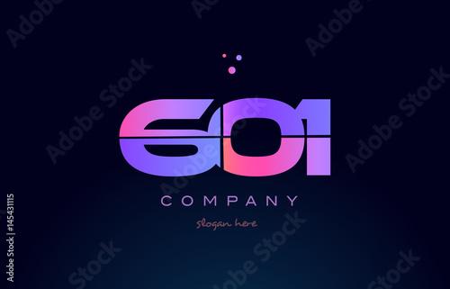 Fotografia  601 pink magenta purple number digit numeral logo icon vector