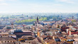 view of Verona city with waterfront of Adige River