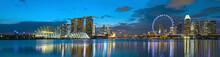 Singapur Skyline Zur Blauen St...