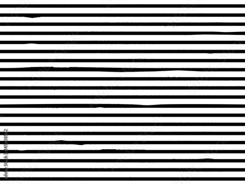 Fotografiet  Grunge Stripes Black made with brush.