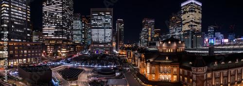 Foto auf AluDibond Bahnhof 東京駅 夜景