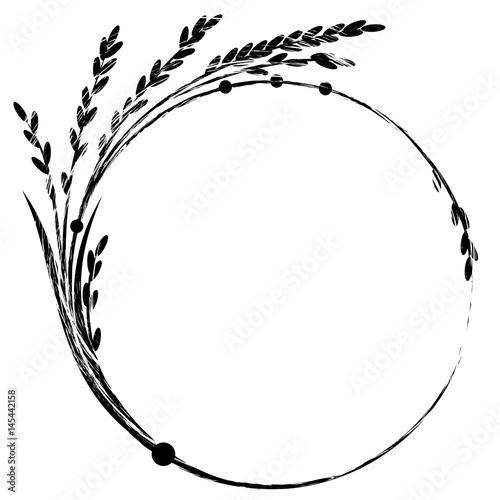 Fotografie, Obraz  rice frame