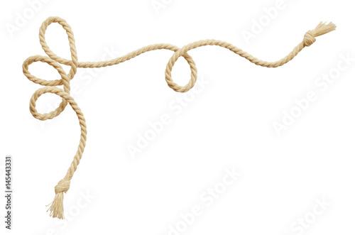 Fotografie, Obraz  Twisted beige cotton rope corner