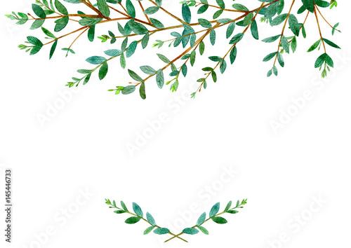 Floral Border Garland Of A Eucalyptus Branches Frame Of A