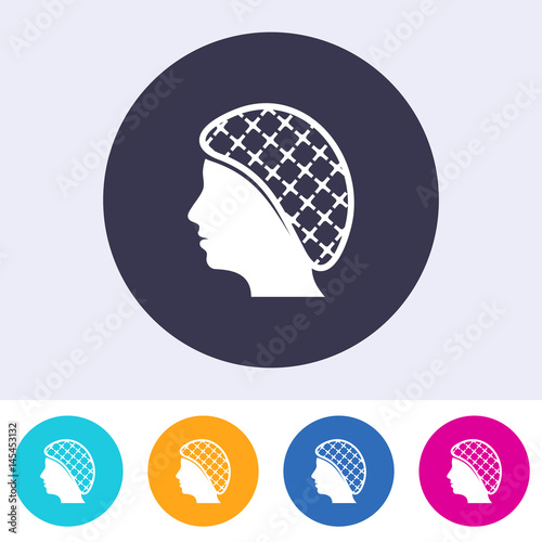 Photo  Single vector hairnets must be worn icon