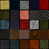 Seamless patchwork pattern. Simple square patches. Doodle, hand drawn. - 145455795