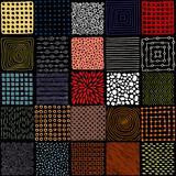 Bezszwowy patchworku wzór. Proste kwadratowe łatki. Doodle, wyciągnąć rękę. - 145455795