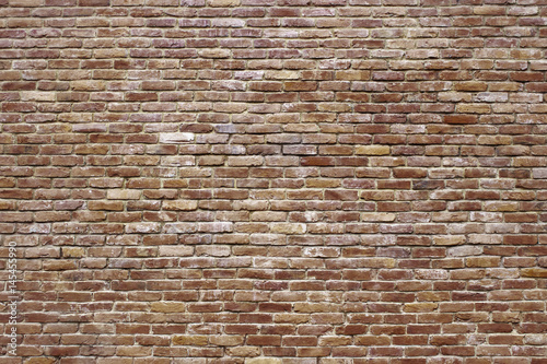 Photo sur Toile Brick wall grunge texture of a brick wall, antique red masonry surface