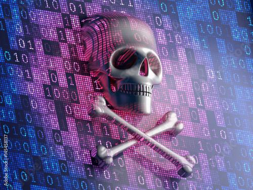 Fotografía  Digital security concept