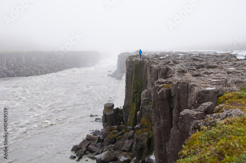 Wall Murals Northern Europe Waterfall on a wild river in Iceland, icelandic nature