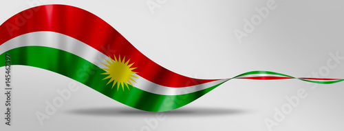 Fotografie, Obraz  Kurdistan flag day on a gray background