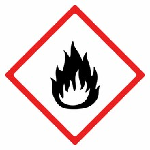 Flammable Material Sign Vector...