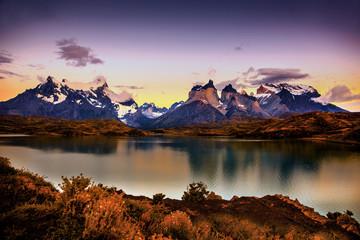 mountains, hillls, lake, rock, patagonia