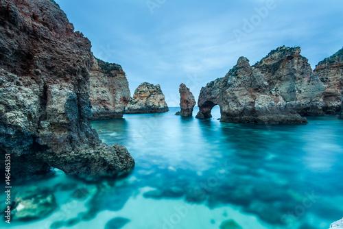Aluminium Prints Blue Ponta da Piedade natural landmark in Lagos, Algarve,Portugal