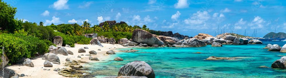 Fototapeta Picture perfect beach at Caribbean