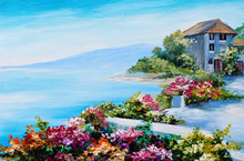 Oil Painting, House Near The S...