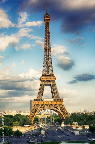 Montage in der Fensternische Gelb Schwefelsäure Eiffel Tower, Paris, France