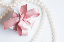 Gift Box With Pink Ribbon Bow ...