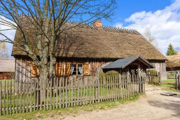Fototapeta na wymiar Open-air museum in Wdzydze Kiszewskie. Poland.