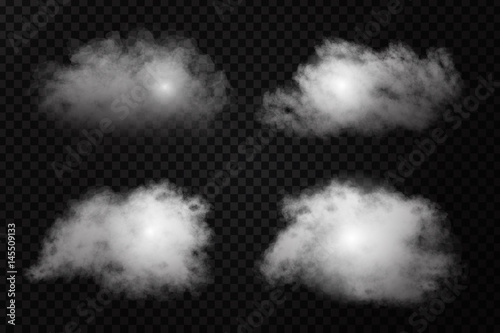 Photo Vector realistic isolated cloud effect on the transparent background