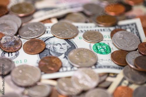 Fotografie, Obraz  50 dollar with President Grant surround by money