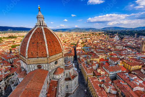 Photo sur Toile Florence Florence Duomo. Basilica di Santa Maria del Fiore (Basilica of Saint Mary of the Flower) in Florence, Italy
