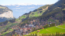 Town In Valley At Grinderwald ...