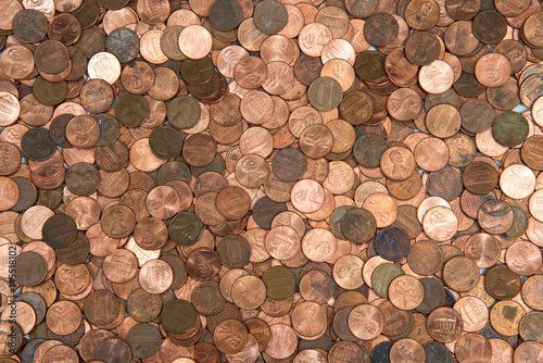 Fotomural  Flat view pennies